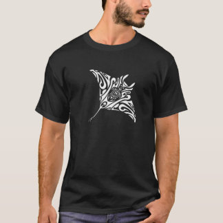 Swimming Ray Manta Black 2 T-Shirt