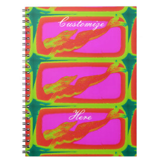 swimming red mermaid spiral notebook