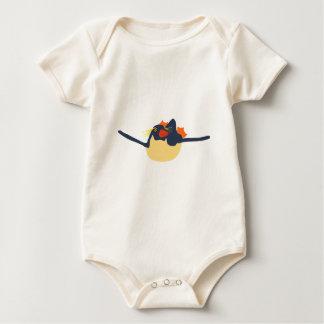 Swimming rockhopper penguin baby bodysuit