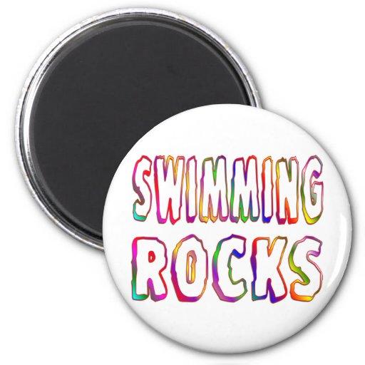 Swimming Rocks 6 Cm Round Magnet