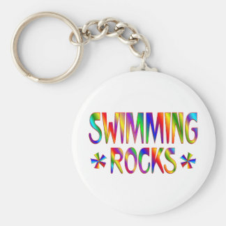 SWIMMING ROCKS BASIC ROUND BUTTON KEY RING