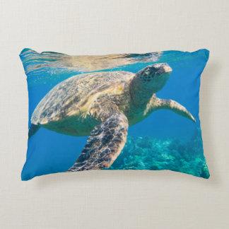 Swimming Sea Turtle Decorative Cushion