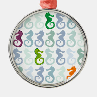 Swimming Seahorse Pattern Christmas Ornament