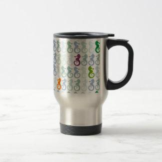 Swimming Seahorse Pattern Travel Mug