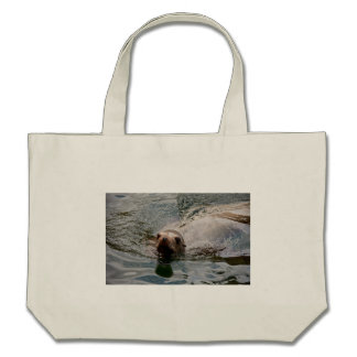Swimming seal canvas bags