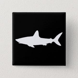 Swimming Shark 15 Cm Square Badge