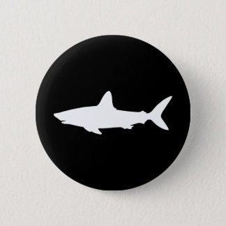 Swimming Shark 6 Cm Round Badge