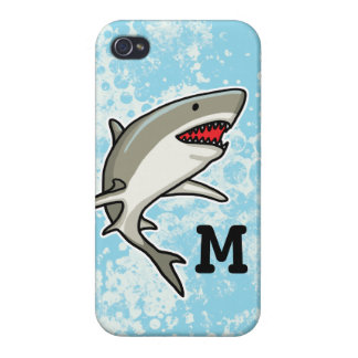 Swimming Shark, Add Child's Monogram iPhone 4/4S Case