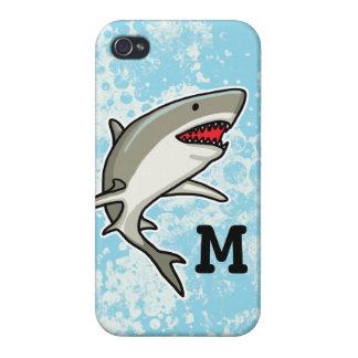 Swimming Shark, Add Child's Monogram iPhone 4/4S Case