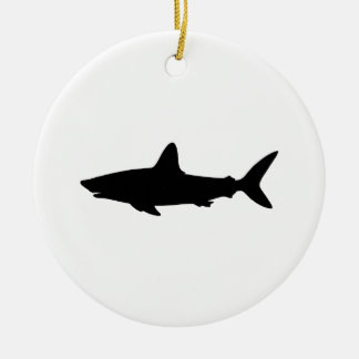 Swimming Shark Christmas Ornament