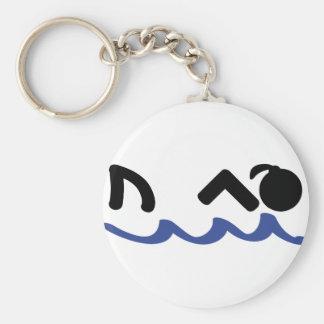 swimming shark girl keychains