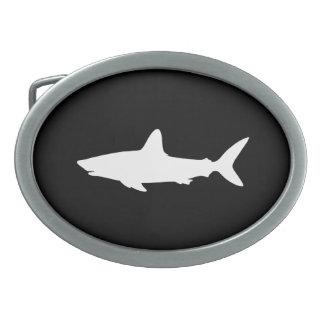 Swimming Shark Oval Belt Buckle