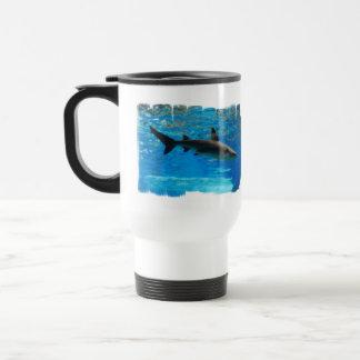 Swimming Shark Plastic Travel Mug