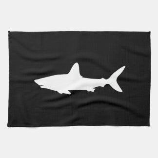 Swimming Shark Tea Towel