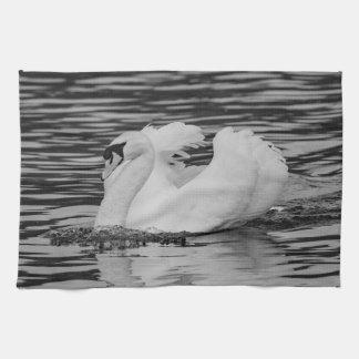Swimming Swan Tea Towel