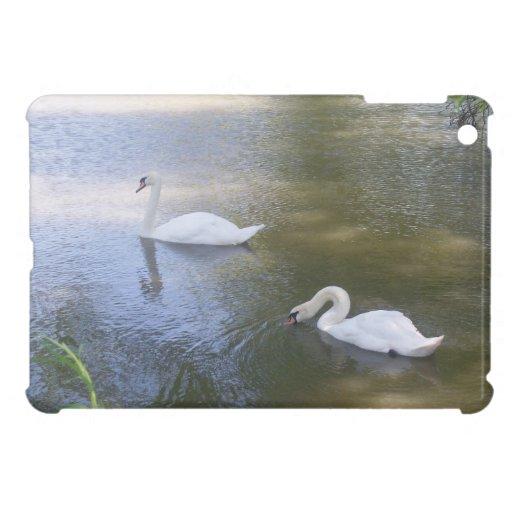 Swimming Swans iPad Mini Cover