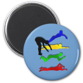 Swimming Swimmers Water Sports Swim Fridge Magnets