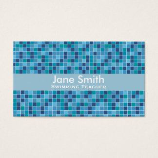 Swimming Teacher, Swim Coach, Swim Instructor Business Card
