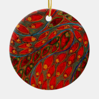 """Swimming Thoughts"" (painting) Christmas Ornament"