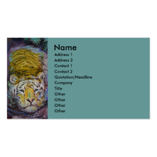 Swimming Tiger Pack Of Standard Business Cards