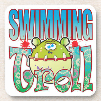 Swimming Troll Beverage Coaster