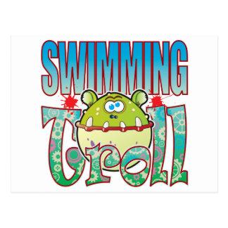 Swimming Troll Postcard
