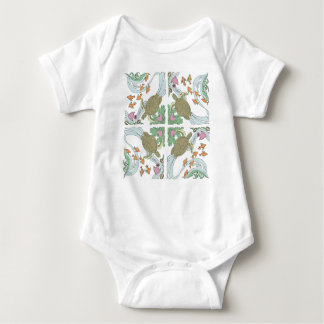 Swimming Turtle, Childrens Jump Suit Baby Bodysuit