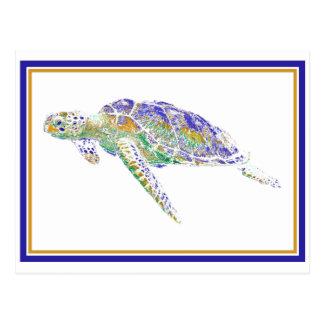 Swimming Turtle Postcard