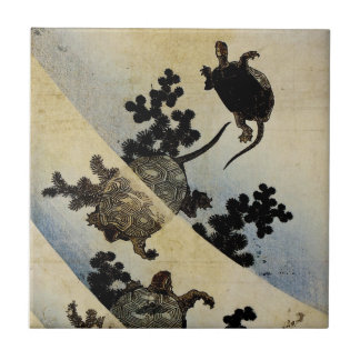 Swimming Turtles Small Square Tile