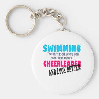 Swimming vs Cheerleading Key Ring
