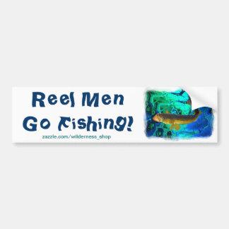 Swimming Walleye, Pickerel Fish Art Bumper Sticker