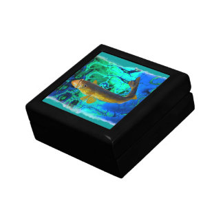 Swimming Walleye, Pickerel Fish Art Gift Box