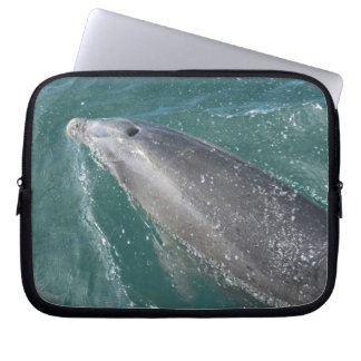 Swimming with dolphins and Dolphin Watch Laptop Sleeve