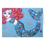 swimming with grace greeting card