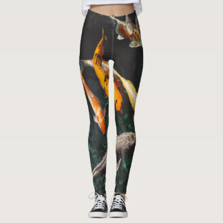 swimming with koi leggings