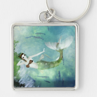 Swimming with Salmon Keychain