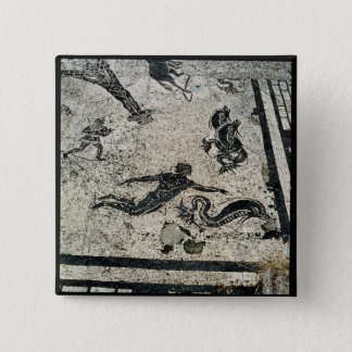 Swimming with the Dolphins, from the Frigidarium o 15 Cm Square Badge