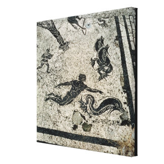 Swimming with the Dolphins, from the Frigidarium o Canvas Print