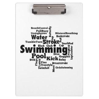 Swimming Word Cloud Clipboard