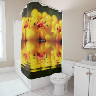 Swimming Yellow Ducks Shower Curtain