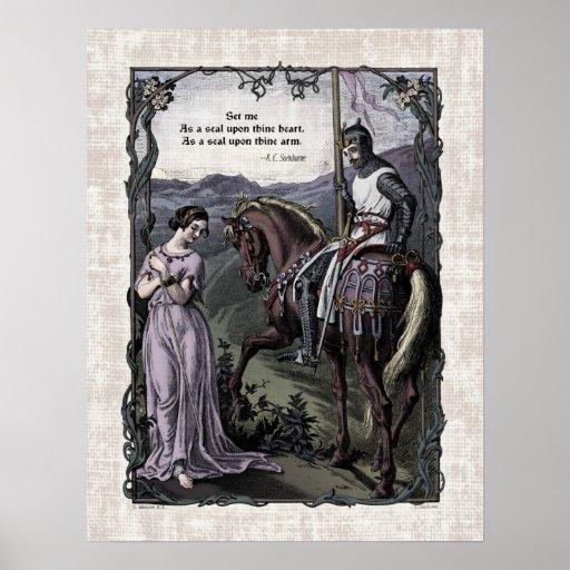 "Swinburne ""An Old Saying"" Victorian Art Poster"