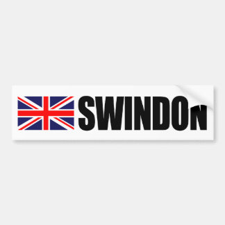 Swindon UK Flag Bumper Sticker