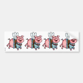 swine flew scrapbook sticker bumper sticker