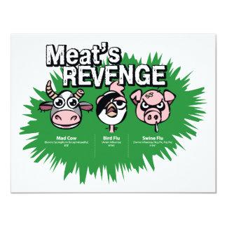 Swine Flu 11 Cm X 14 Cm Invitation Card