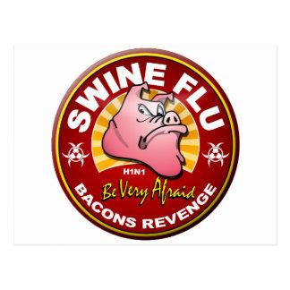 Swine Flu - Bacons Revenge! Post Card