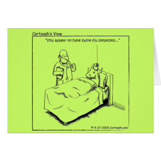Swine Flu Greeting Cards