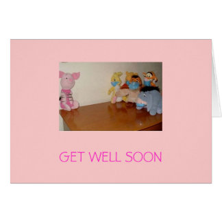 swine flu, GET WELL SOON Greeting Card