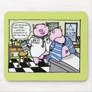 swine flu mouse mat