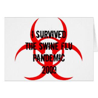 SWINE FLU PANDEMIC CARD
