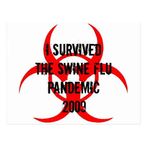 SWINE FLU PANDEMIC POSTCARD
